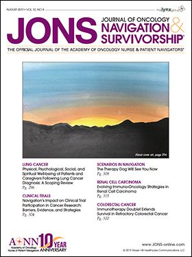 Issues - Journal of Oncology Navigation & Survivorship